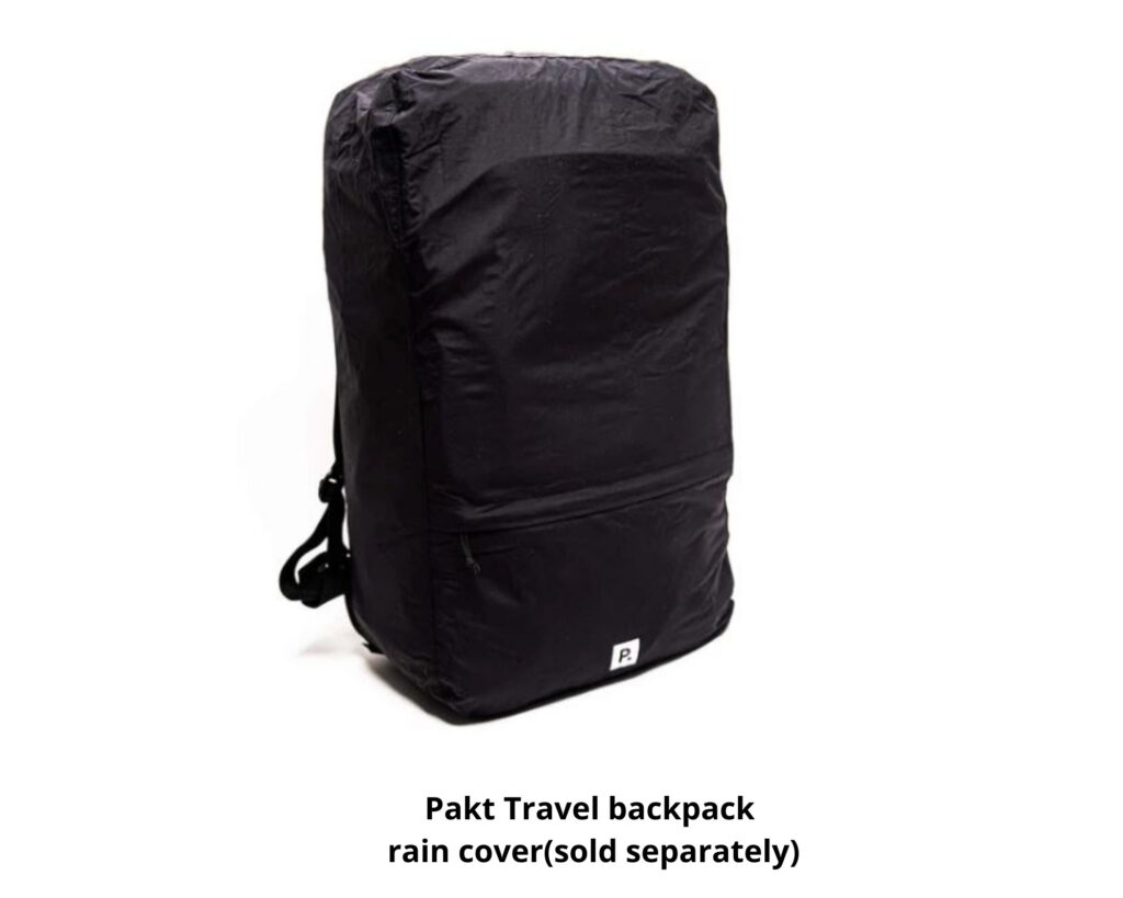 Pakt Travel backpack review: the Pakt Travel backpack with rain cover