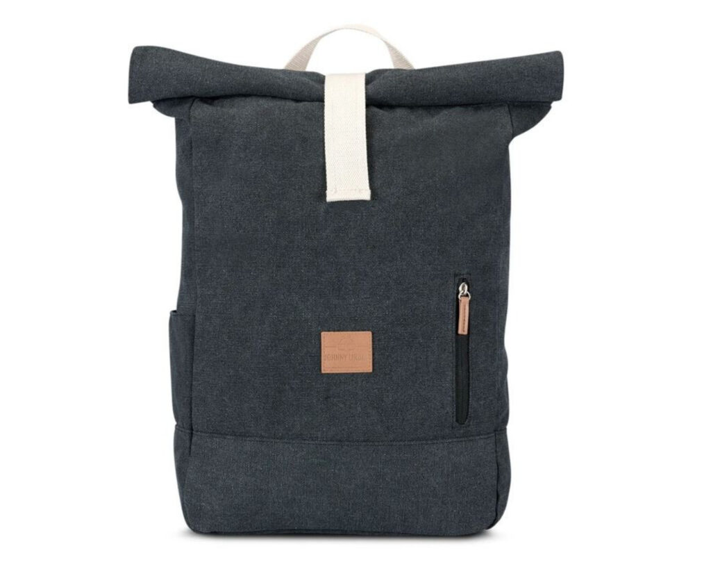 Different types of backpacks: a rolltop backpack