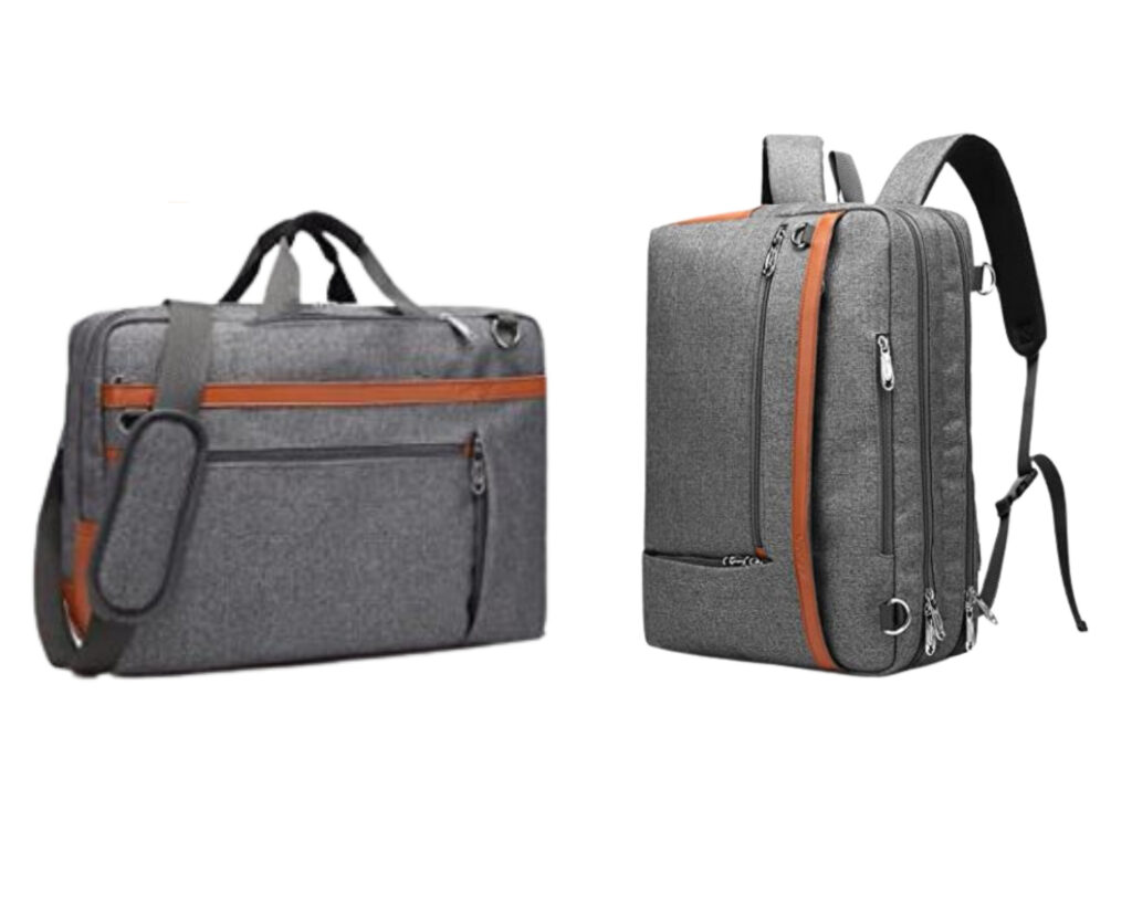Different types of backpacks: a messenger backpack