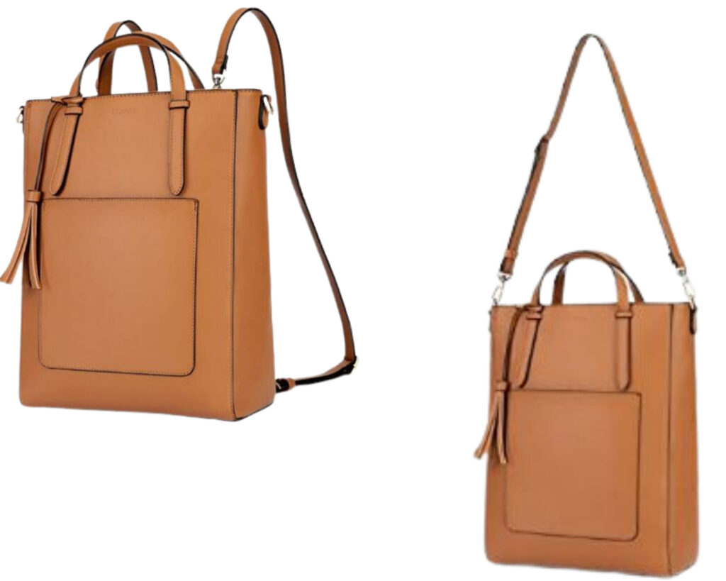 Different types of backpacks: a tote backpack