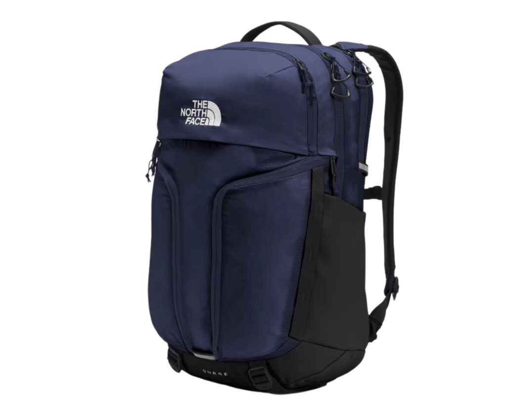 North Face Surge backpack review: the side view of the North Face Surge backpack