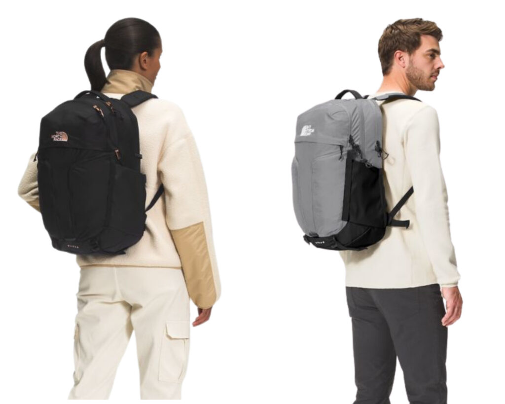 North Face Surge: models carrying the North Face Surge on the back