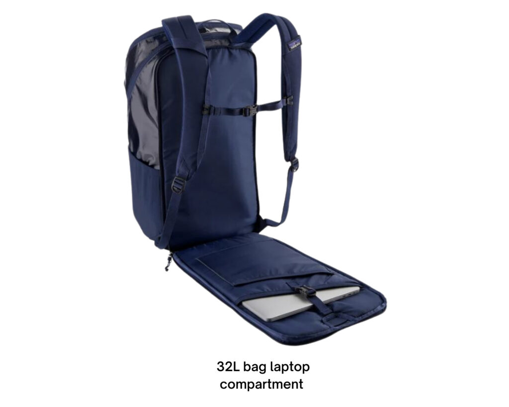 Patagonia Black Hole backpack review: the 32l backpack TSA approved laptop compartment