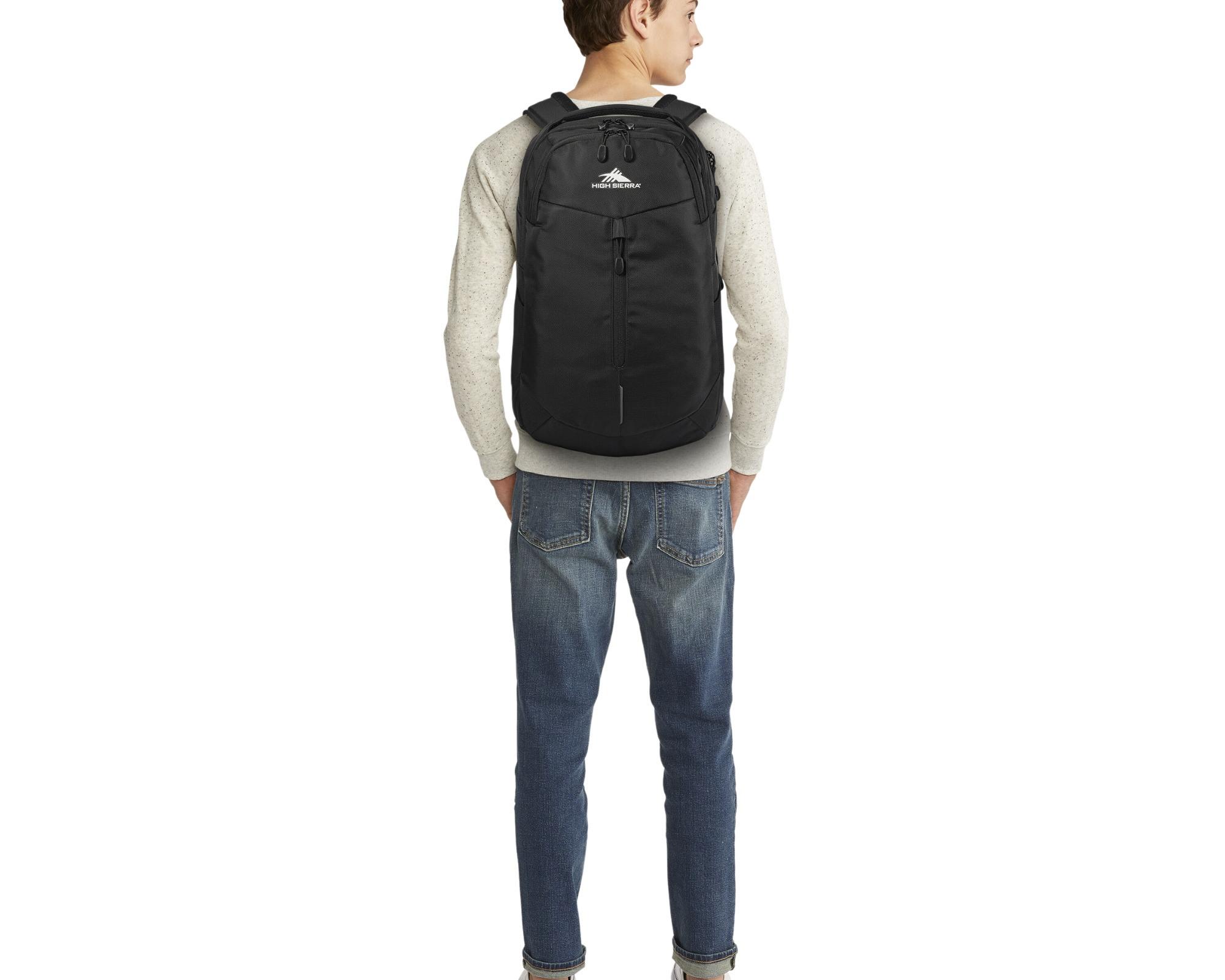 Best High Sierra backpacks: a male wearing the High Sierra backpack