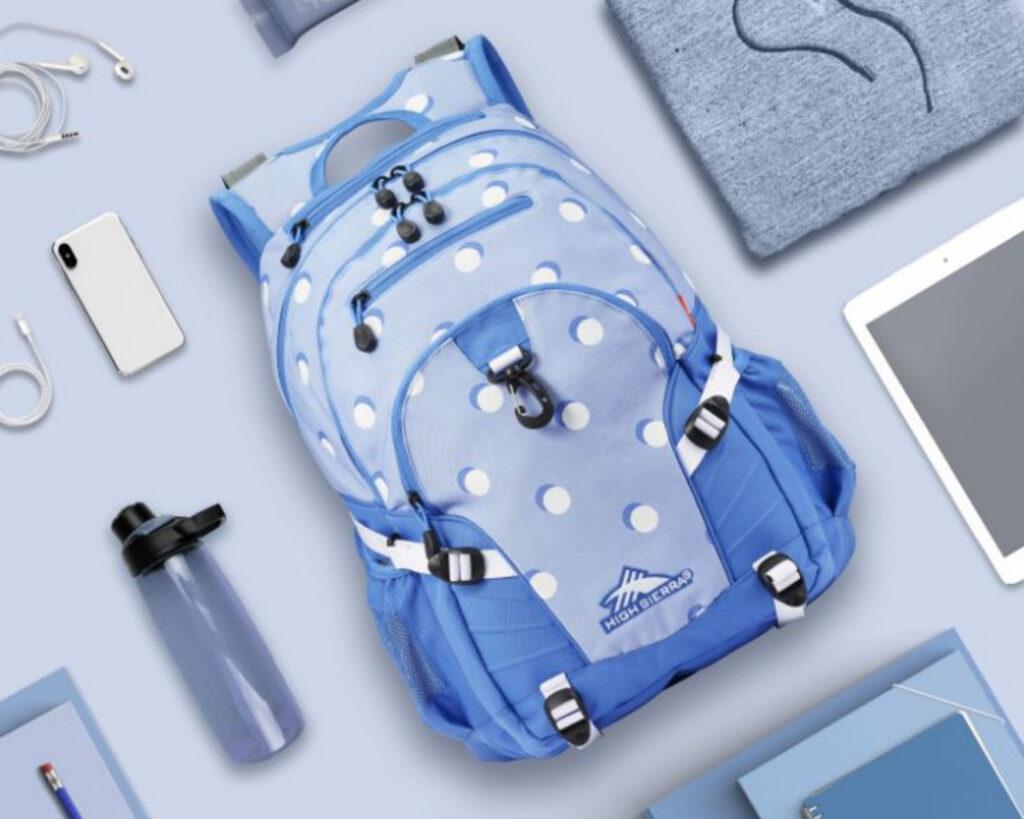 High Sierra Loop Backpack Review: High Sierra backpack on a table