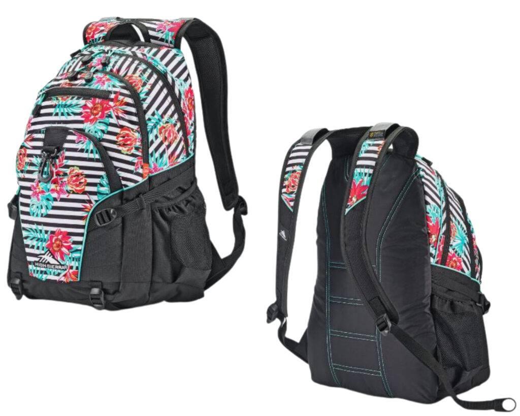 High Sierra Loop Backpack Review: High Sierra backpack front and back view