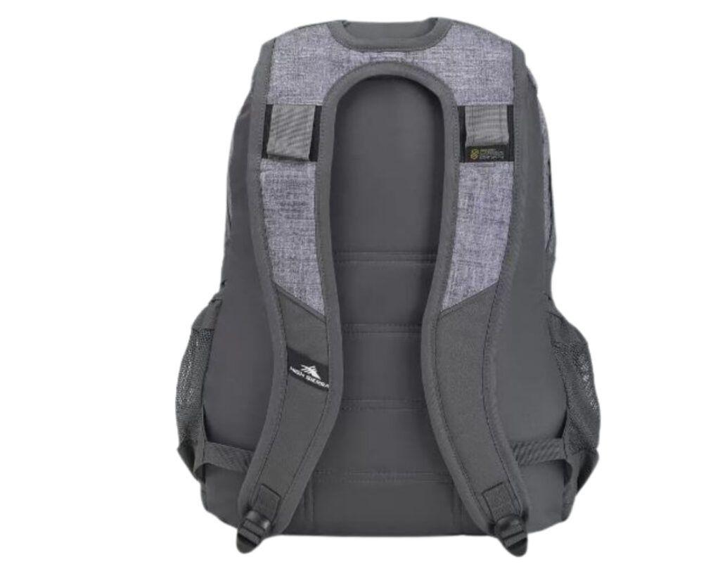High Sierra Loop Backpack Review: High Sierra backpack back view
