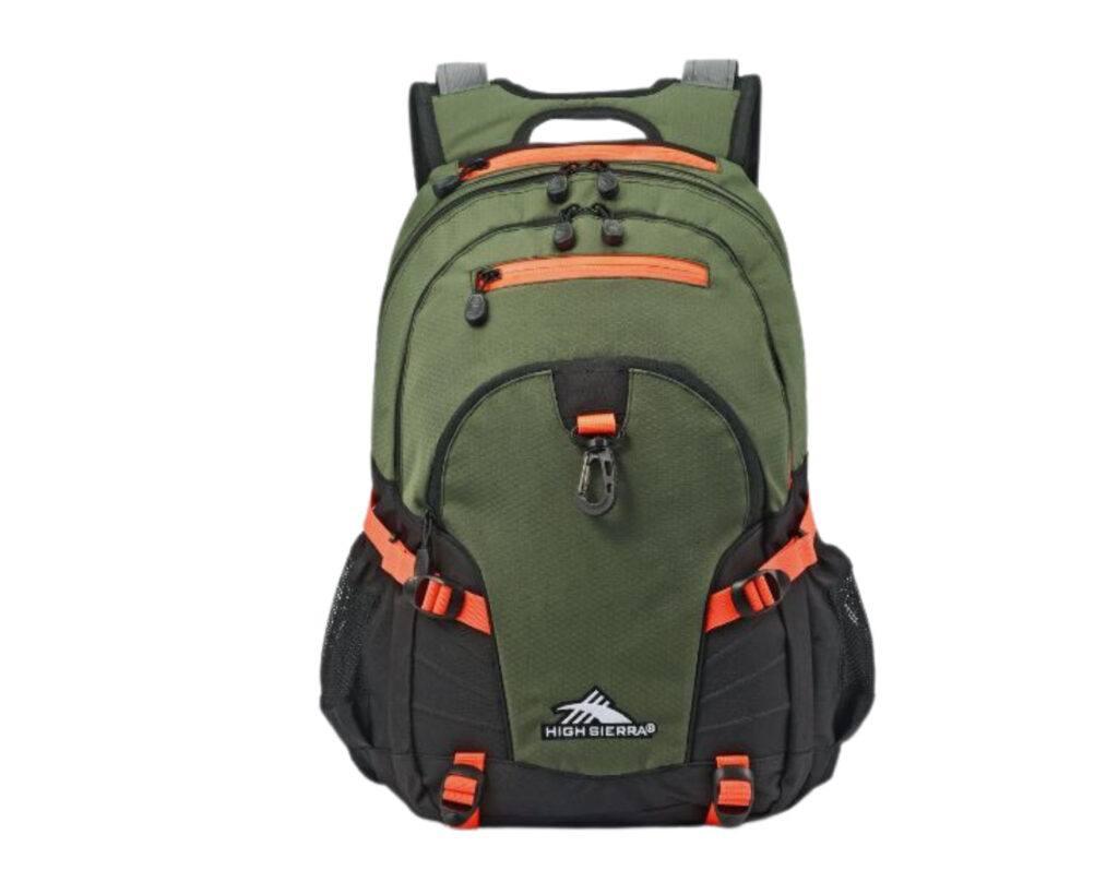 High Sierra Loop Backpack Review: High Sierra backpack front view