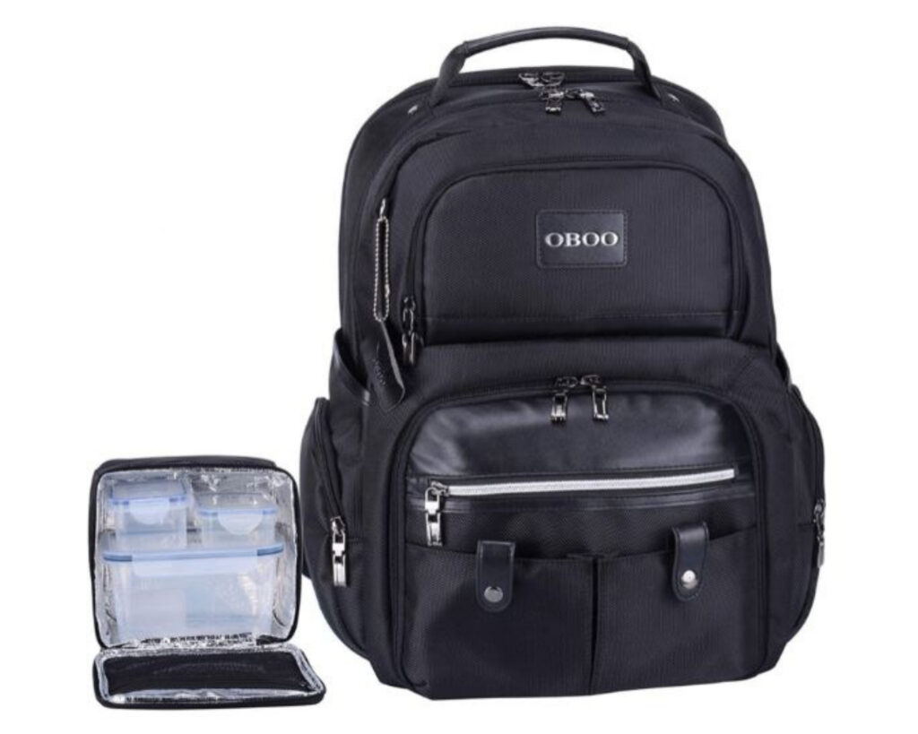 Backpacks with Detachable Lunch Box: Oboo Business Travel Laptop Backpack with Removable Lunch Box