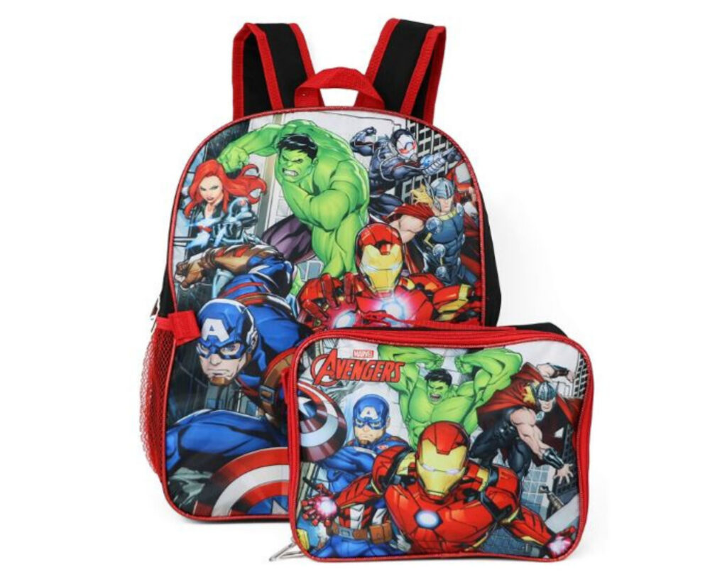 Backpacks with Detachable Lunch Box: Marvel Avengers Backpack