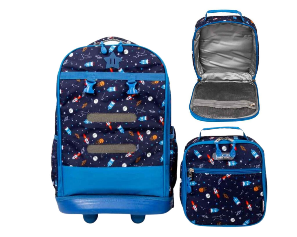 Backpacks with Detachable Lunch Box: J World Duo Rolling Backpack