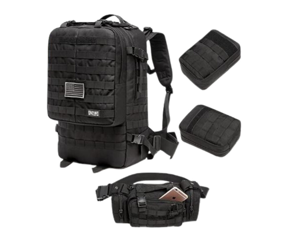 Backpacks with detachable daypack:Crazy Ants Tactical Backpack
