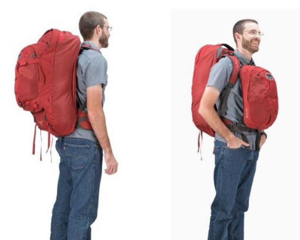 Backpacks with detachable daypack: Osprey Farpoint 55