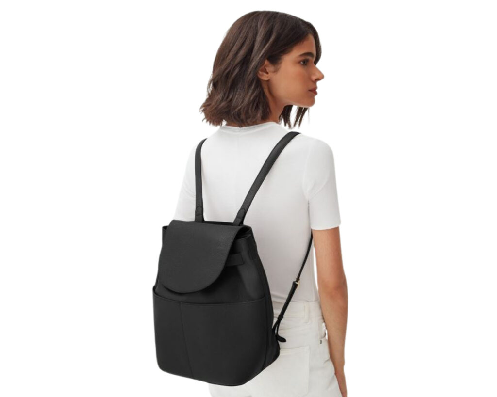 Best Small Backpacks for Women: Cuyana leather backpack