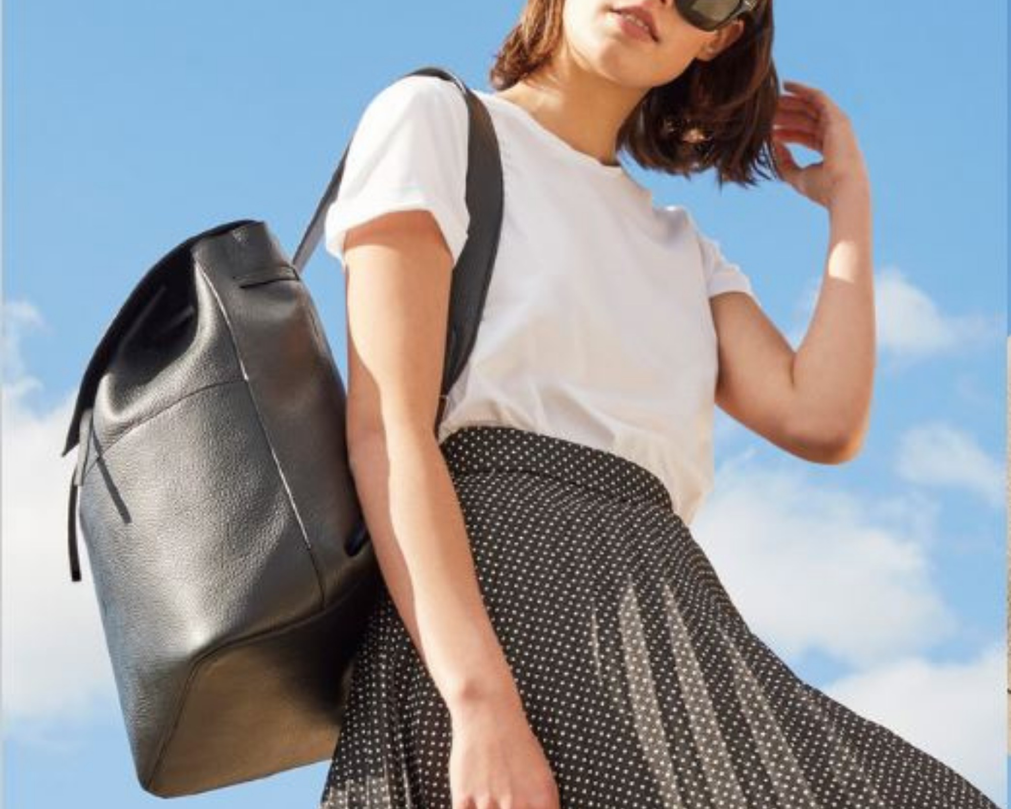 Black Leather Backpacks: Cuyana Leather Backpack